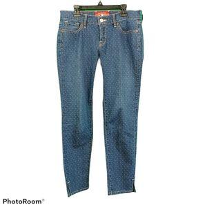 Lucky Brand Charlie Skimmer Sz 6/28 Polka Dot Jean